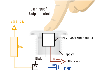 Piezo switch Wiring Schemes